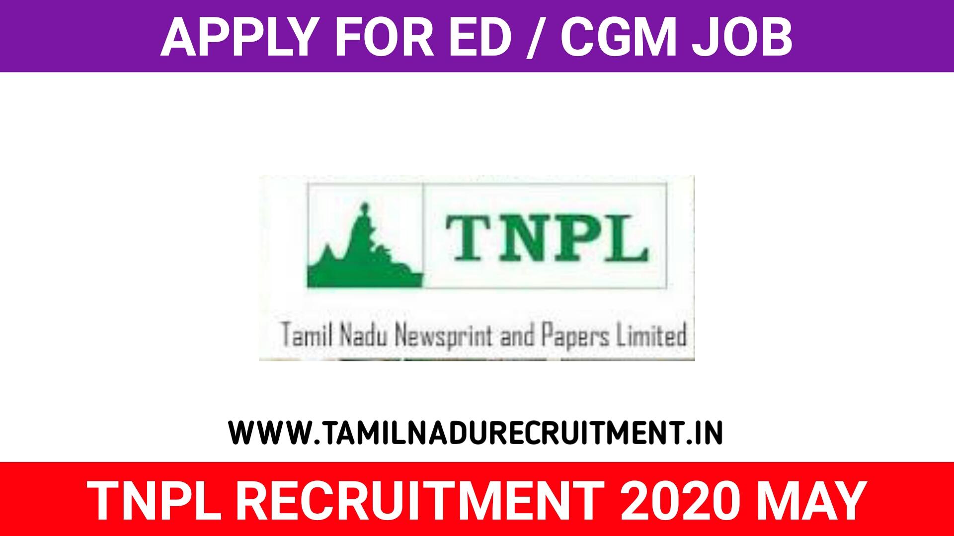Photo of TNPL Recruitment 2020 04 ED Financial officer post – Apply Now
