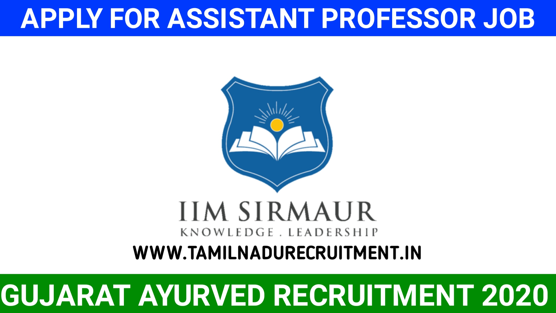 Photo of IIM SIRMAUR Recruitment 2020 – Apply now for 04 Assistant Professor posts