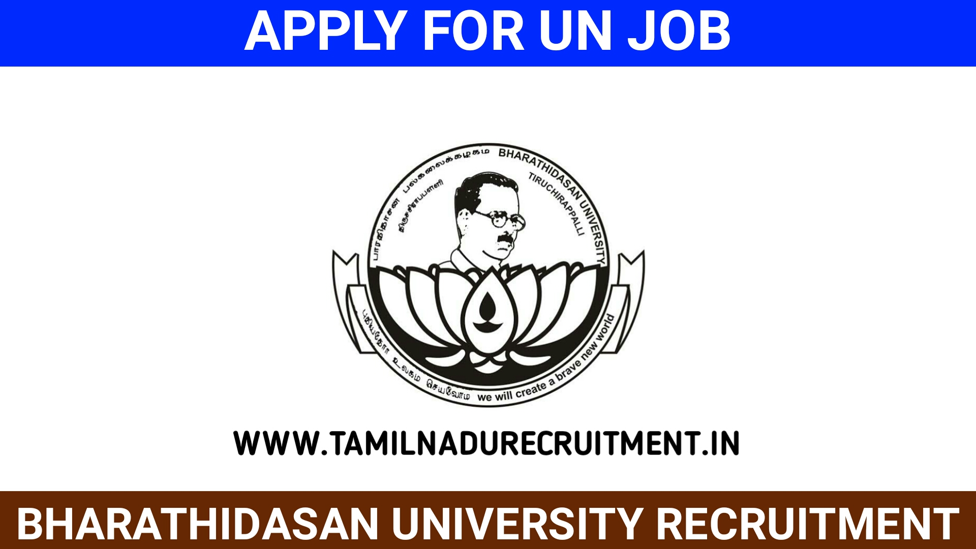 Photo of BHARATHIDASAN UNIVERSITY recruitment 2020 for 02 Research Fellow posts